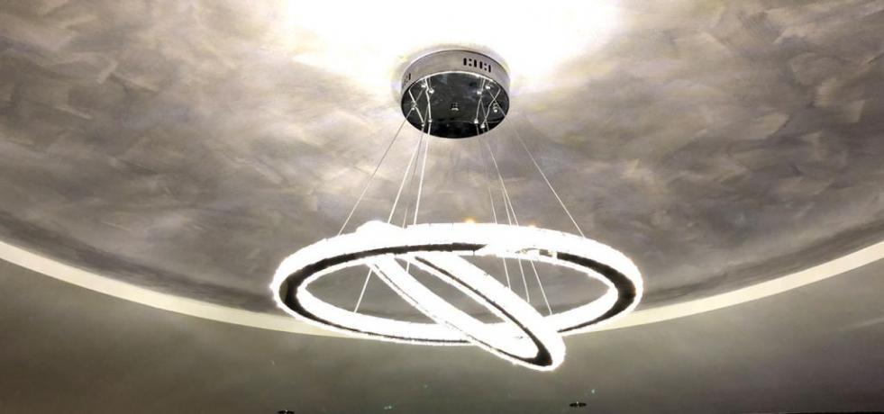 Lampadario della Luxury SPA Suite