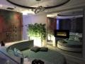 Letto e caminetto della Luxury SPA Suite
